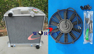 NEW 3 ROW All Aluminum Radiator & Fan for 1932 FORD CHOPPED CHEVY ENGINE 32