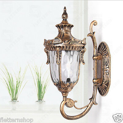 Retro Classic Garden Wall Lantern, Path Lamp,Wall Mount, Outdoor Light, Sconce