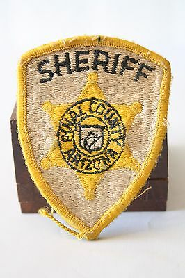 Vintage Sheriff Pinal County Arizona Police Embroidered Patch Yellow/Gold Star