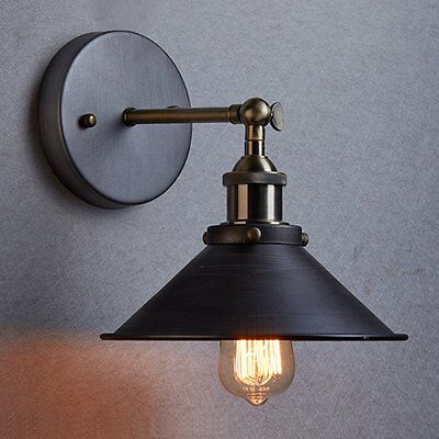 Modern Vintage Industrial Loft Metal Rustic Sconce Wall Light Wall Lamp Retro