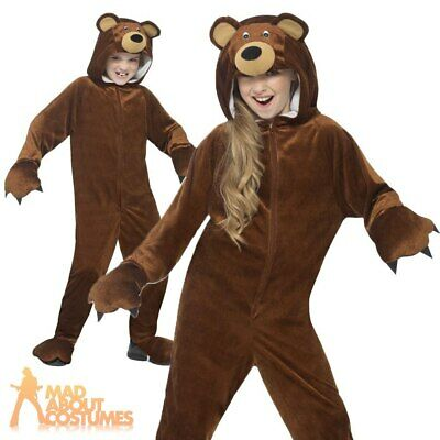 Child Bear Onesie Costume Boys Girls Animal Fancy Dress Outfit New