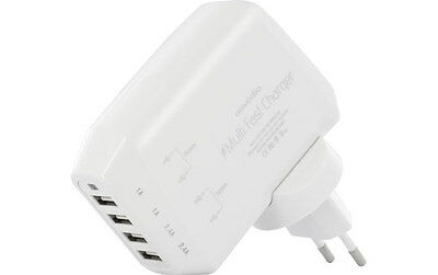 Novodio Multi Fast Charger - Chargeur International 4 ports USB Ultra-Rapide