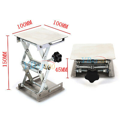 """4""""x4"""" 100mm Stainless Steel Lab Stand Lifting Platform Stand Laboratory Tool"""