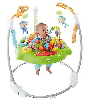 Fisher-Price Roaring Rainforest Jumperoo Activity Baby Swing Lights Music Sounds
