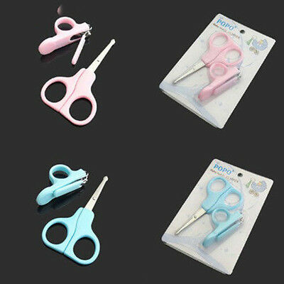 Baby Toddler Non-Slip Nail Clippers Scissors Cutters Set Manicure Tool New