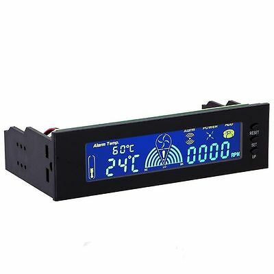 "5.25"" LCD Display Panel Fan Speed Temperature Controller PC Hardware Protector"