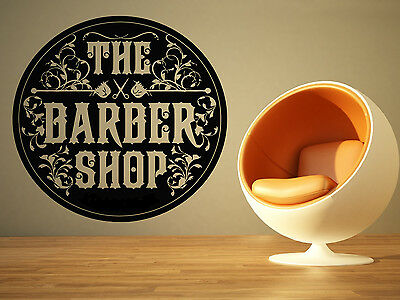 Wall Room Decor Art Vinyl Sticker Mural Decal Barber Shop Logo Sign Stamp SA025