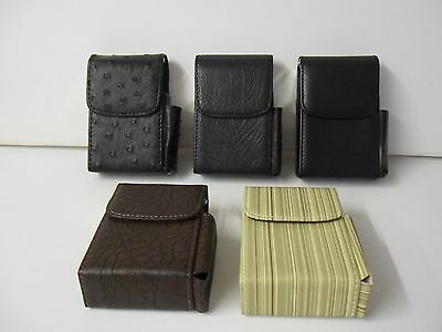 Leather Look  Superking Cigarette Cases & Lighter Holder Many Designs Available
