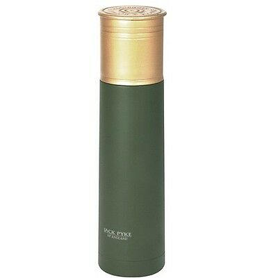Jack Pyke Stainless Steel Shotgun Cartridge Flask Green 500ml