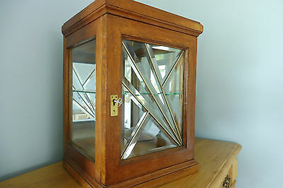 Antique French Medicine Cabinet Wall Cabinet display cabinet Oak Wood