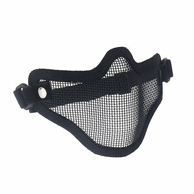 Hunting Metal Wire Half Face CS Mask Mesh Airsoft Mask Paintball Resist WD