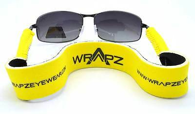 Wrapz FLOURESCENT YELLOW Floating Neoprene Glasses Strap Band 45cm STRAP ONLY