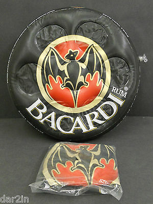 New Bacardi Rum Pub Bar Home Collector Spirit Inflatable Party Drink Holder Tray