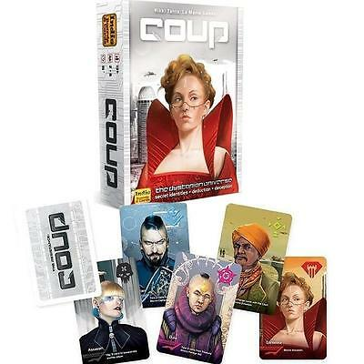NEW Coup The Dystopian Universe Royal Class Strategy Bluff Card/Board Game