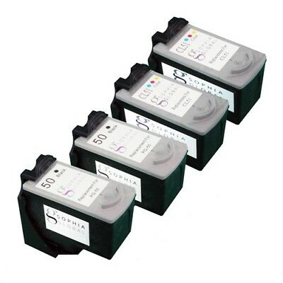 4 PK Ink Cartridges for Canon PG-50 CL-51 FAX-JX210P PIXUS MP170 MP460 iP2500