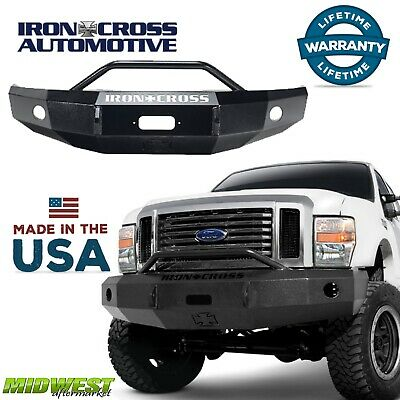 Iron Cross Steel Push Bar HD Bumper 1999-2004 Ford F250 F350 F450 Super Duty
