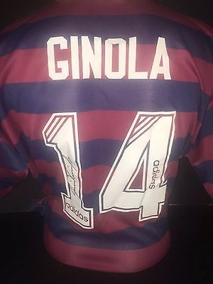 Signed David Ginola Newcastle United Rare Number 14  Entertainers Away Shirt