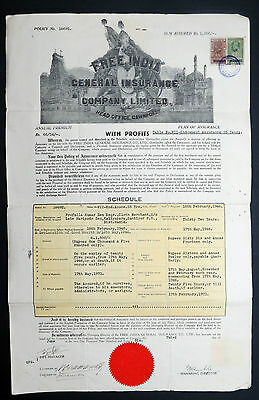 Free India General Insurance Company Limited Signed Document Indien Annas (I-679