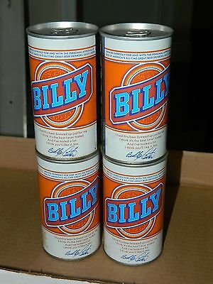 Lot of 4 Vintage BILLY BEER Cans Cold Spring Brewing Co MN Minnesota 12oz carter