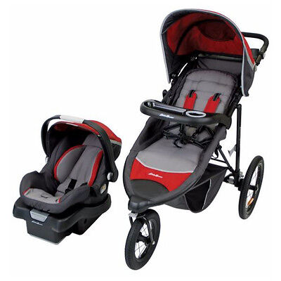 Eddie Bauer TrailGuide Jogger Travel System - Tango Red
