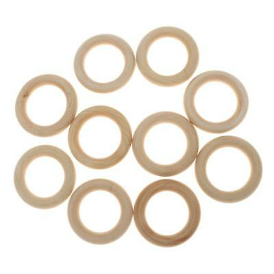 10PCs 5.5cm Blank Wooden Ring Bead For DIY Painting Teething Jewelry Finding