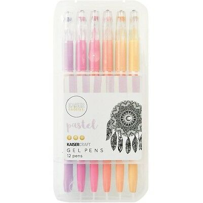 Kaisercraft Kaiser Kaisercolour Gel Pens 12pk CL105 ~ Pastel Scrapbooking Craft