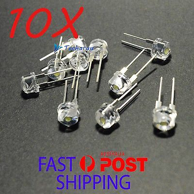 LED diode 0.5W 8mm Straw Hat White High Power Bright Lamp Light Bulb