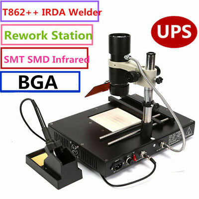 T862++ Infrared IR BGA Rework Station Soldering Repair Machine Soldering 110V