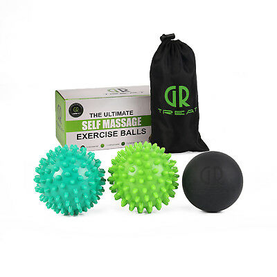 MSG Massage Ball Set - Lacrosse&Spiky Ball Combo Pack -Perfect for Trigger Point