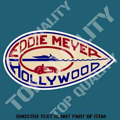 Vintage Eddie Meyer Hollywoo Decal Sticker Classic Americana Automobile Stickers