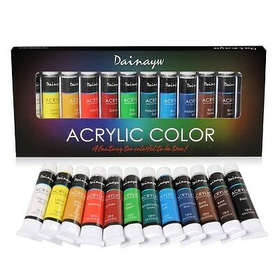 Acrylic Paint Set - Artist Quality Paints for Painting Canvas, Wood, Paper, Fabr