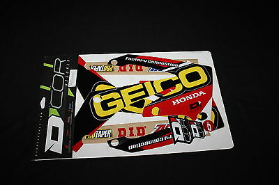 Honda Crf250R & Crf450R D'cor Geico Mx Graphics Decals Kit Stickers