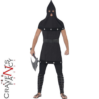 Adult Dungeon Master Costume Medieval Executioner Fancy Dress Halloween Outfit