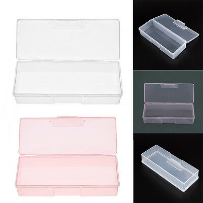 Clear Box Holder Case for Nail Art Brushes Storage Container Nail Accessories