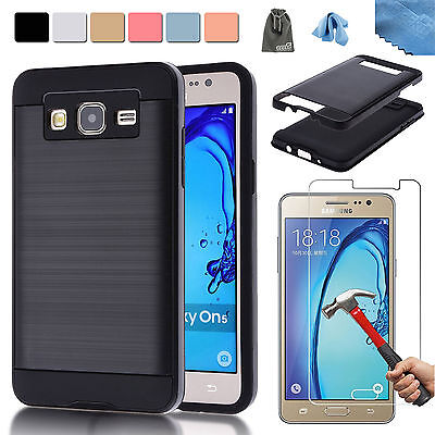 EEEKit Armor Defendor Case Cover+Tempered Glass Screen Protector for Galaxy On5