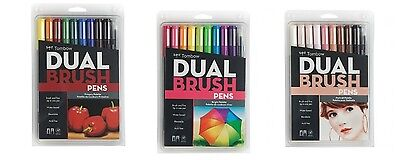 Tombow Dual Brush Pen Art Marker Set: Set Includes 1 Of Each Marker Set - Primar