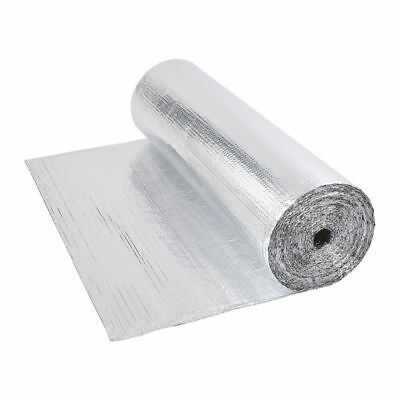Double Foil Single Bubble Aluminum Insulation Roll 1.2m x 40m Floor Loft Wall
