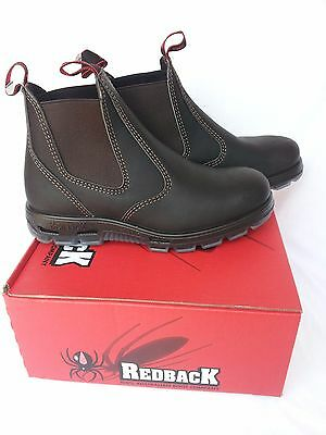 Redback Work Boots UBOK Non Steel Cap Toe Elastic Sided Brown Made in Australia
