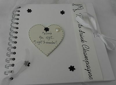 Hen Do Night personalised   Photoalbum scrapbook memory book keepsake
