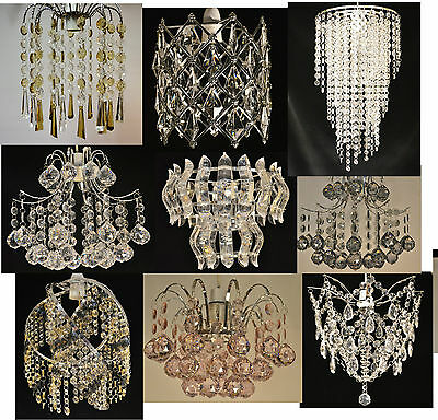 Chandelier Style Chrome Acrylic Crystal Pendant Light Shades