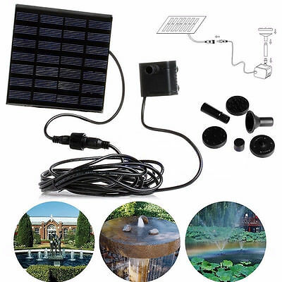 7V Solar Panel Power Water Pump For Fountain Pool Pond Garden Plants Aquarium