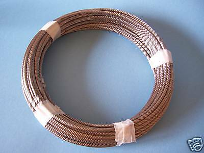 """304 Stainless Steel Wire Rope Cable, 3/16"""", 7x19, 30 ft"""