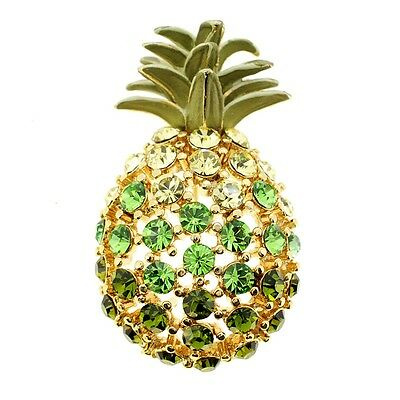 Multicolor Golden Pineapple Crystal Pin Brooch. Free Delivery