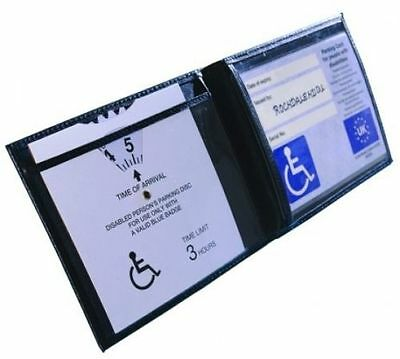 New Disabled blue badge holder wallet parking permit display cover wallet