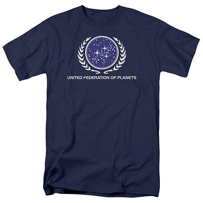 Star Trek United Federation of Planets Logo Tee Shirt Adult Sizes S-3XL