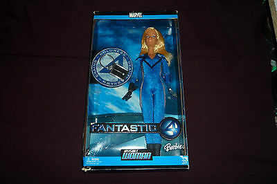 "2005 Mattel Barbie Doll Marvel Fantastic Four 4 Invisible Woman 11"" Figure NRFB"