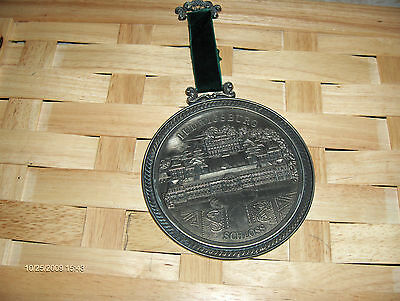 PEWTER COLLECTOR PLATE or WALL HANGING