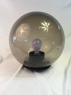 Vintage Mid Century Smokey Plexiglas Outside Pole Light Lamp Landscaping Fixture