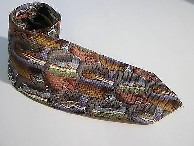 Jerry Garcia Abstract Rectangles 100% Silk Tie Necktie