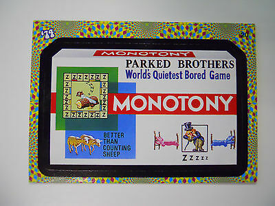 2008 Topps Wacky Packages Trading Card #20-Monotony-Monopoly